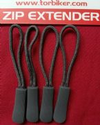 4 x GREY ZIPPER ZIP TAG PULLER EXTENDER FITS BAGSTER KRIEGA OXFORD BUFFALO BAGS